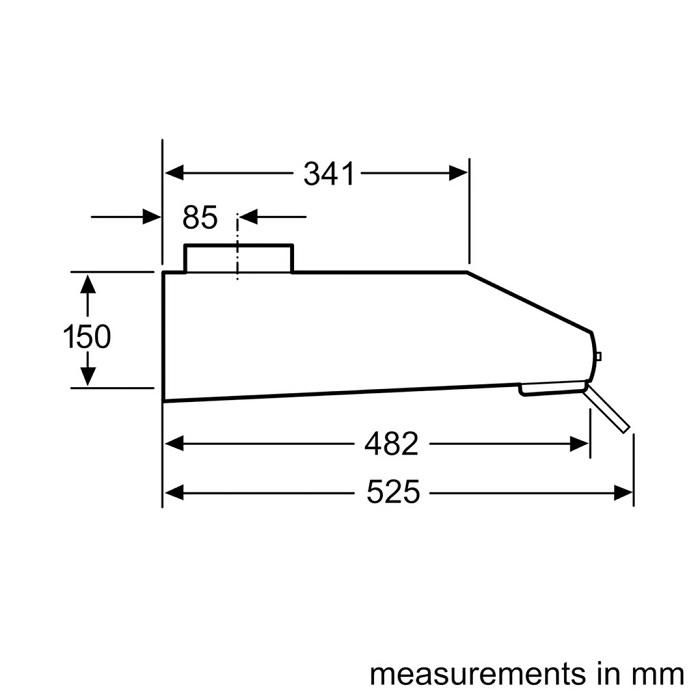 Máy hút mùi Bosch DHU935HB0
