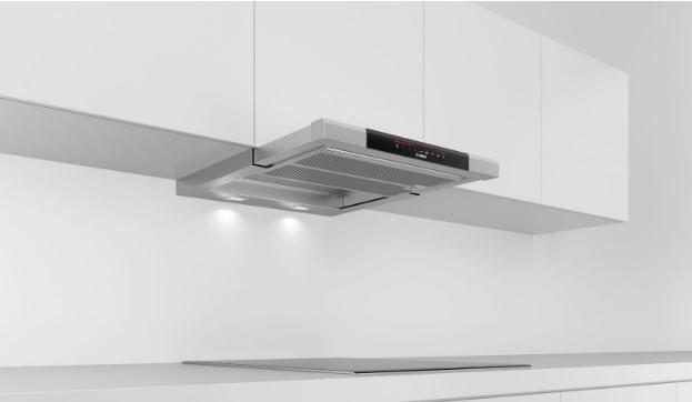 Máy hút mùi Bosch kích thước 60cm phù hợp với không gian bếp nhỏ