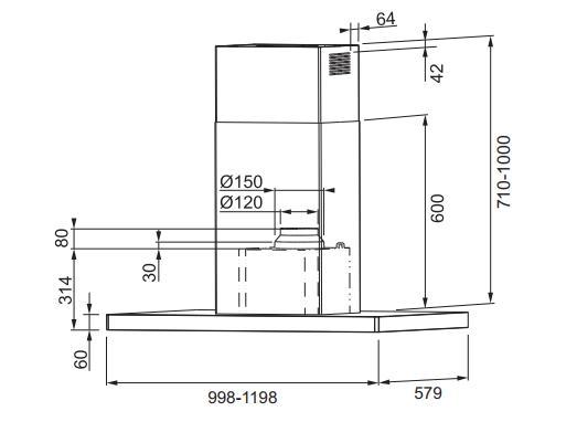 Máy hút Franke FCR 1225 I TC 110.0369.8040