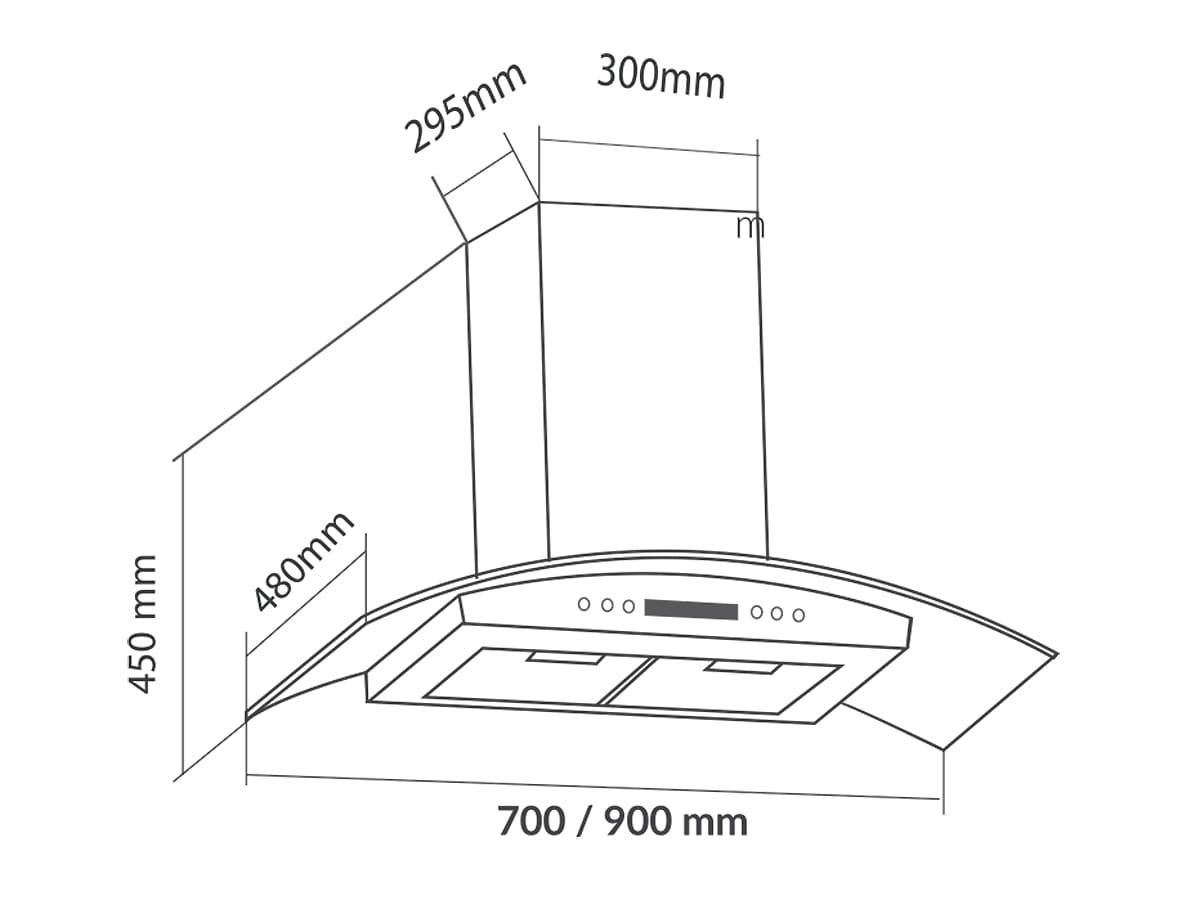 Máy hút mùi gắn tường EUROSUN EH-90K11E0