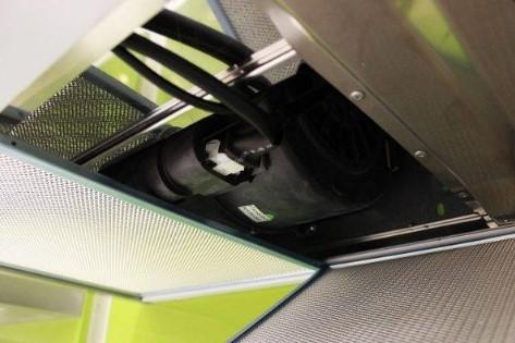 Động cơ hiện đại của máy hút mùi Teka DJ 750