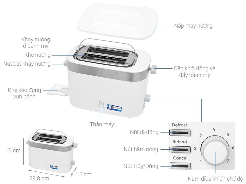 Máy nướng bánh mì Electrolux E2TS1-100W0