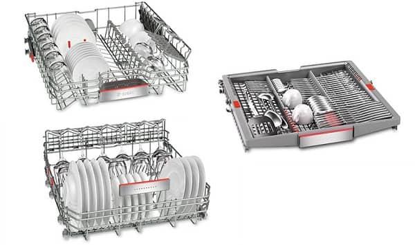Hệ thống giản rửa của máy rửa bátBosch SMV68TX06E