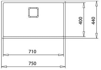 Chậu rửa inox TEKA BE LINEA RS15 71.40 3½ W/OVF SP0
