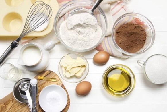 Các nguyên liệu chuẩn bị để làm bánh nướng