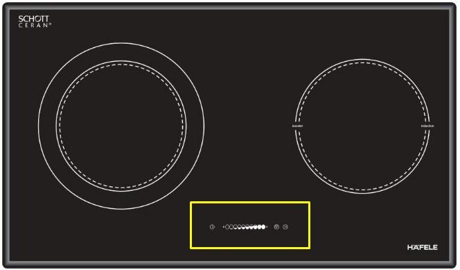 Khu vựcbàn phím của bếp từHAFELE HC-M772B 536.01.815