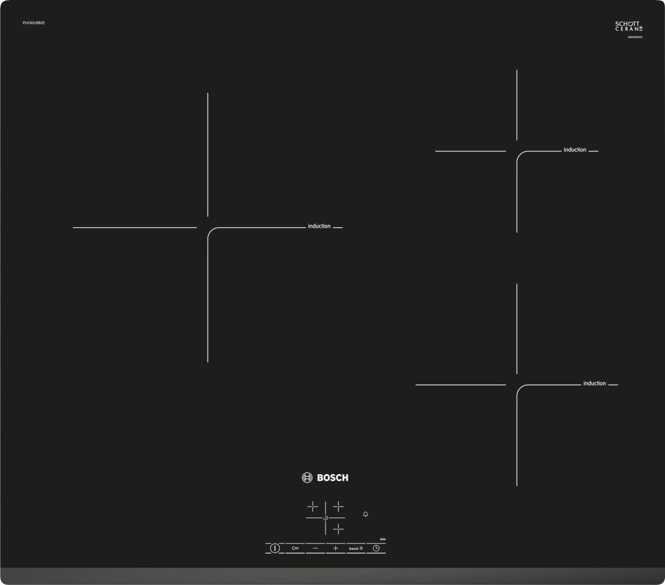 Hình ảnh bàn phím điều khiển củabếp từBosch PUC631BB2E