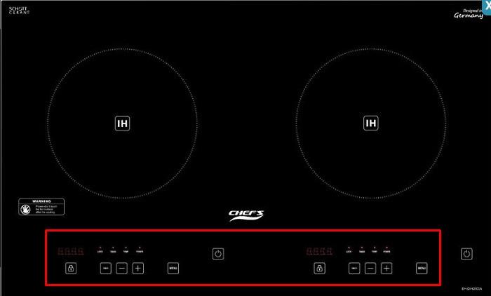 Bàn phím điểu khiển dạng công, trừ của bếp từCHEFS EH-DIH2000A
