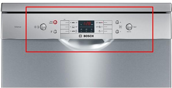 Hình ảnh bàn phím của máy rửa bátBosch SMS63L08EA