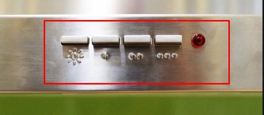 Bảng điều khiển của máy hút mùiTEKA DSJ 750