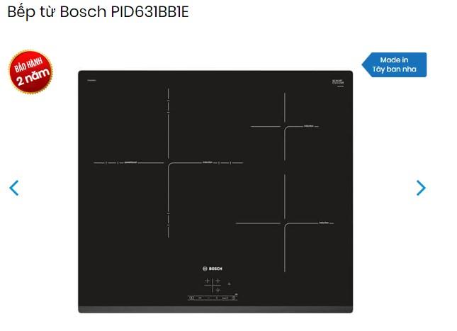Chế độ bảo hành chính hãng bếp từ Bosch PID631BB1E là 02 năm