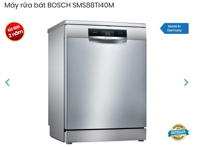 Chế độ bảo hành máy rửa bát Bosch SMS88TI40M là 24 tháng