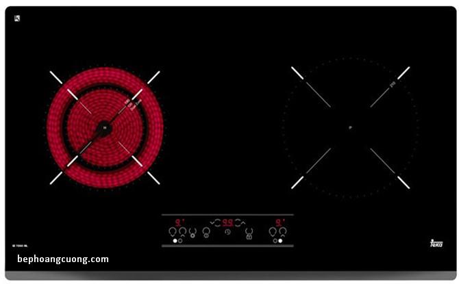 Một vùng bếp từ và một vùng bếp hồng ngoại củaTeka IZ 7200 HL