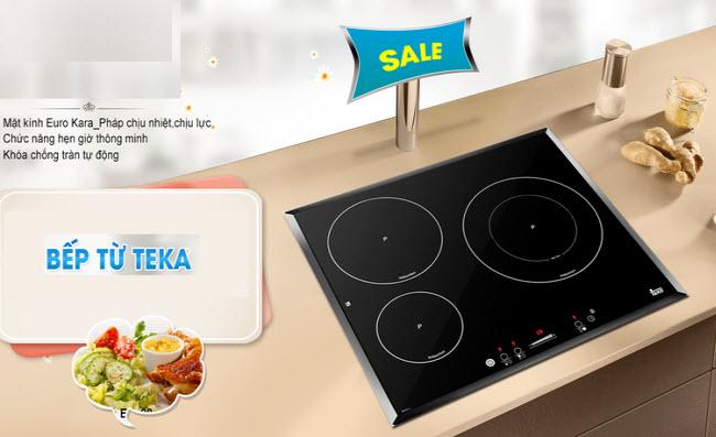 Bếp từ 3 vùng nấu Teka có giá ưu đãi tại Hệ thống Bếp Hoàng Cương