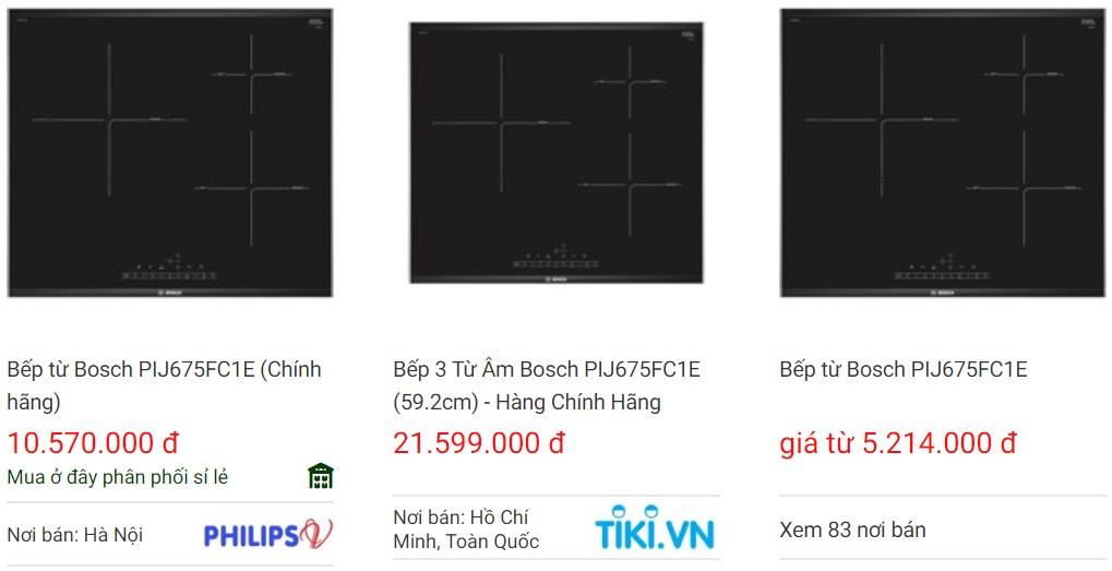 Giá bán bếp từ Bosch PIJ675FC1E