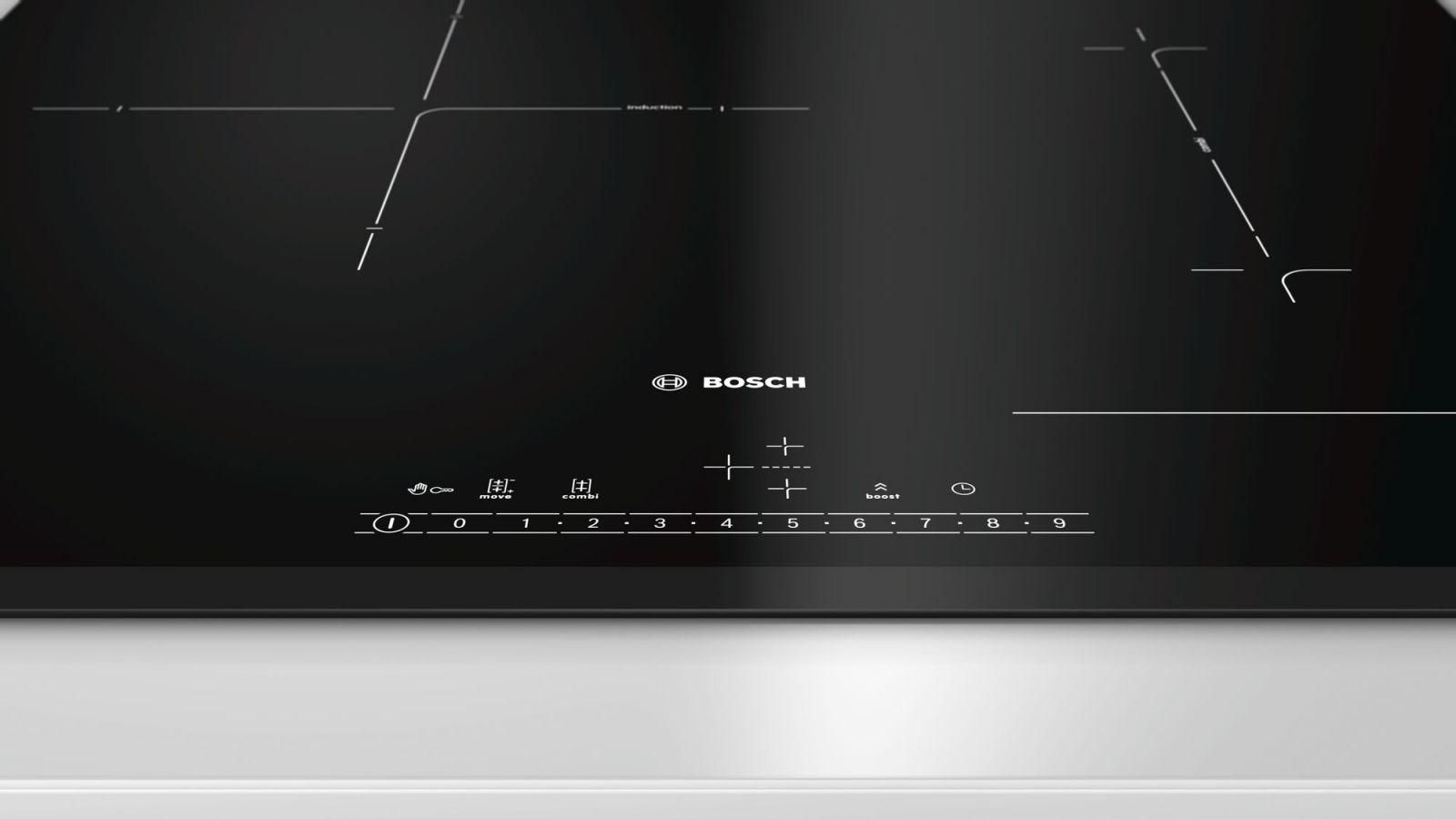 Cận cảnh bảng điều khiển và mặt kínhBosch PVJ631FB1E
