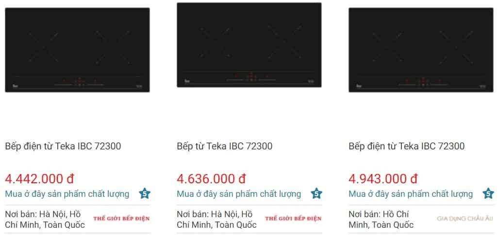 Giá bếp từTEKA IBC 72300 trên websosanh