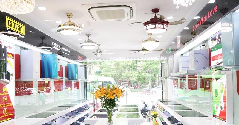 Không gian trưng bày tại Showroom Bếp Hoàng Cương 268 Tây Sơn
