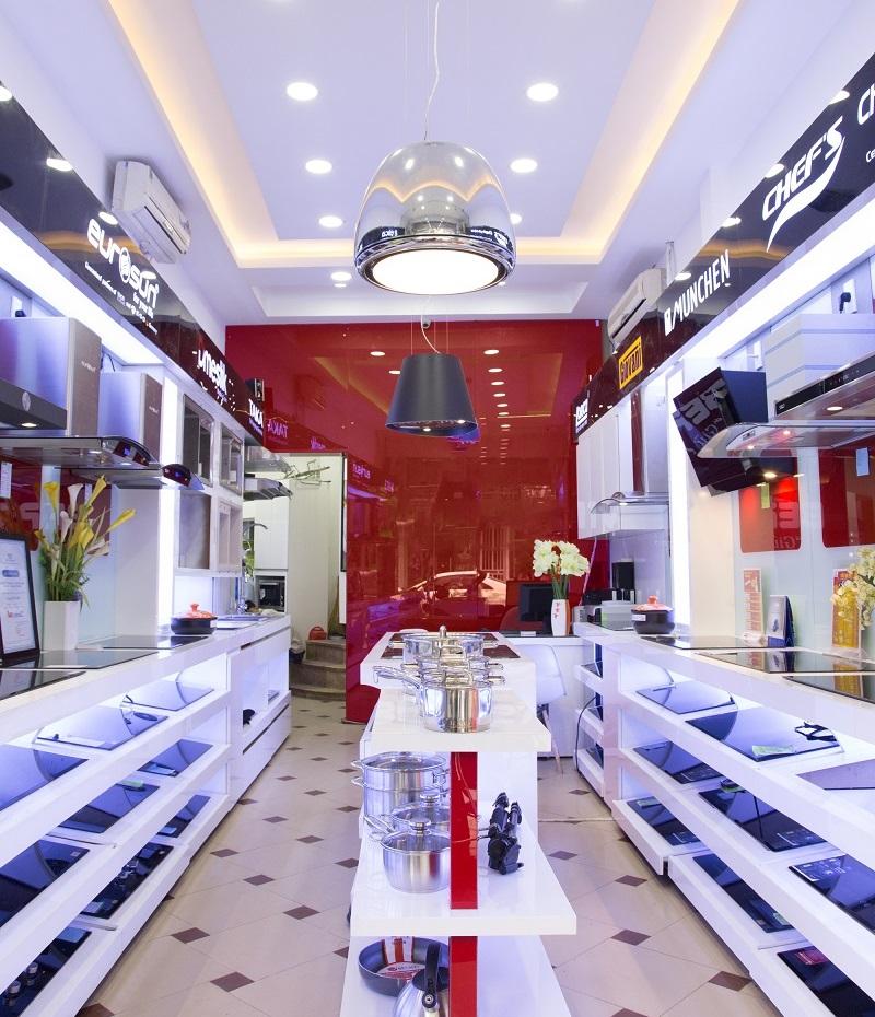 Không gian trưng bàytại Showroom Bếp Hoàng Cương 398B Khâm Thiên