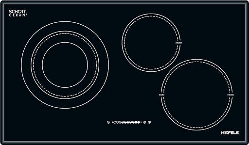 Hình ảnh chiếc bếp từHAFELE HC-M773A 536.01.705 thiết kế 3 vùng nấu