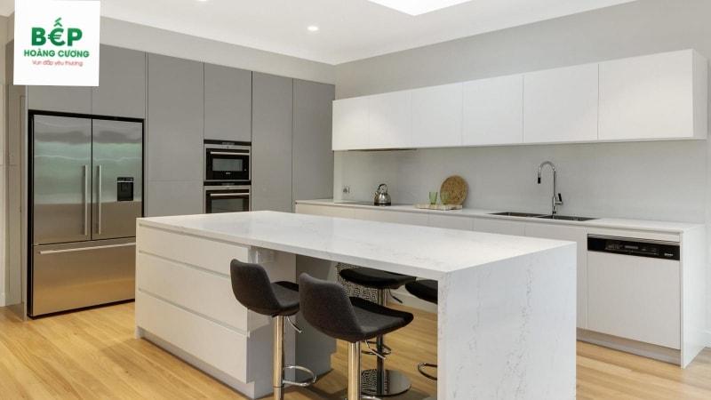 Đây là mẫu căn bếp trông khá đơn gian