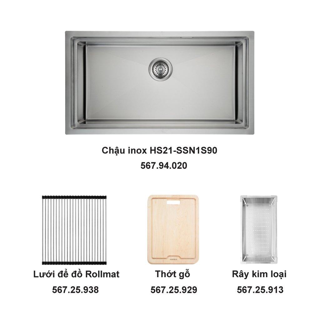 Bộ chậu rửa và phụ kiện Hafele HS21-SSN1S90