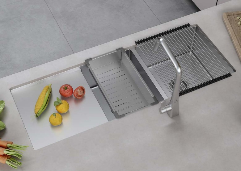 Bộ chậu rửa và phụ kiện Hafele HS21-SSD2S90L