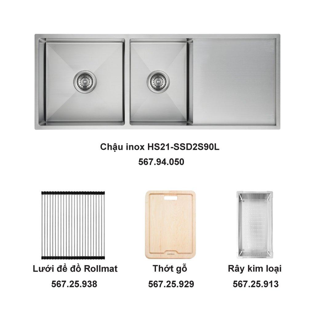 Bộ chậu rửa và phụ kiện Hafele HS21-SSD2S90L0