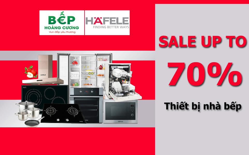 sale 70% giá thiết bị nhà bếp chính hãng Hafele