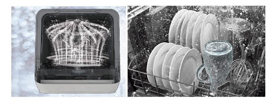 Máy rửa bát tiết kiệm điện và nước nhờ ứng dụng công nghệ hiện đại