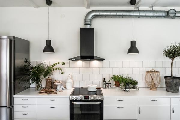 Hình ảnh máy hút mùi Bosch áp tưởng trong căn bếp