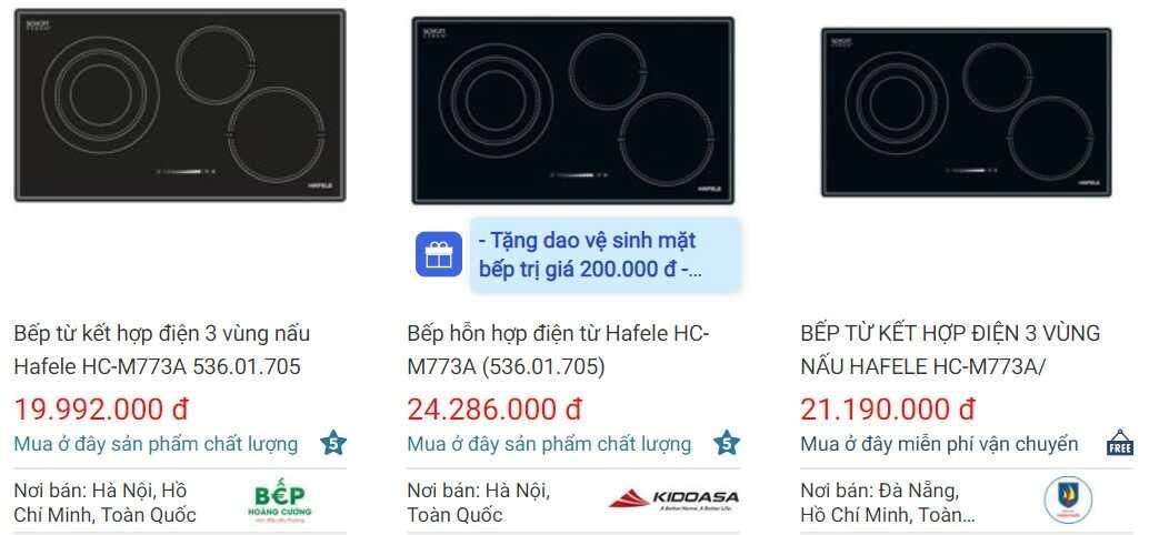 Giá bếp điện từHafele HC-M773A 536.01.705 trên websosanh