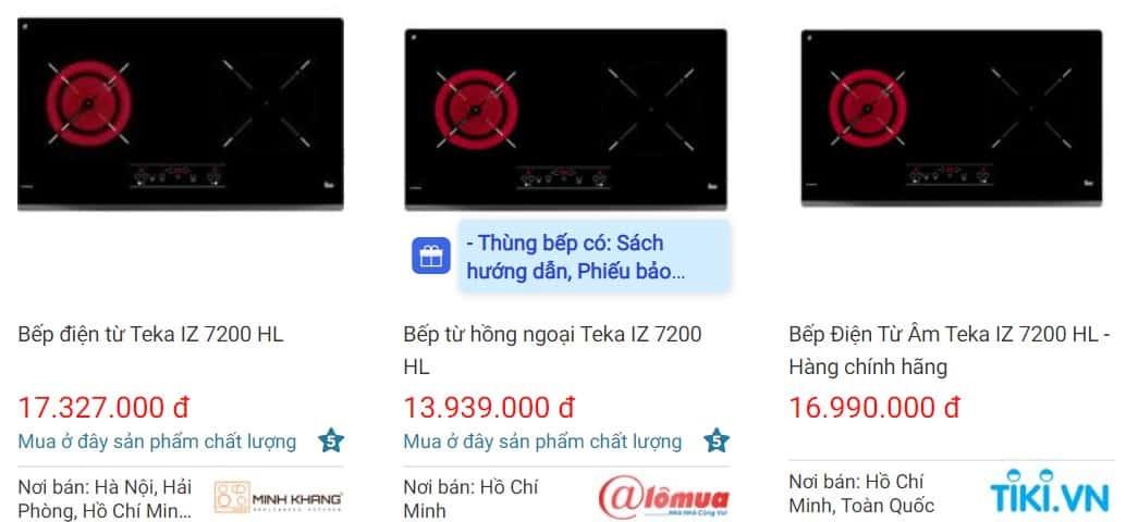 So sánh giá bếp điện từ TEKA IZ 7200 HL websosanh