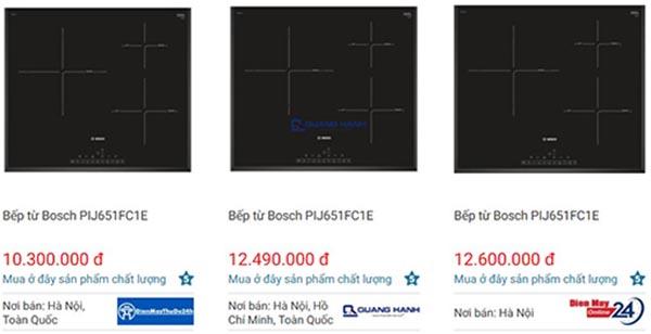 Nơi bán giá bếp từ Bosch PIJ651FC1E tốt nhất