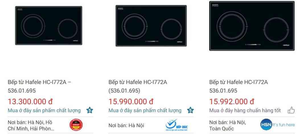 Giá bánHafele HC-I772A 536.01.695 trên websosanh