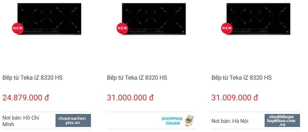Giá bếp từ Teka IZ 8320 HS trên websosanh