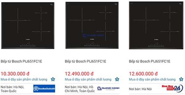giá bán bếp từ Bosch PIJ651FC1E