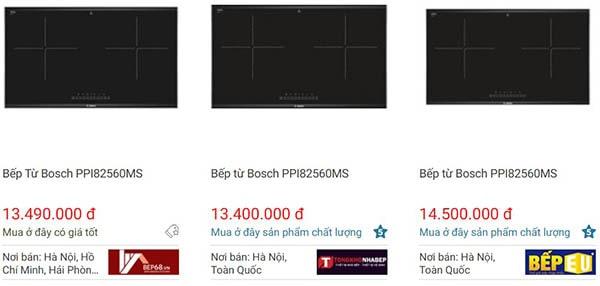 Giá bếp từ âmBosch PPI82560MS