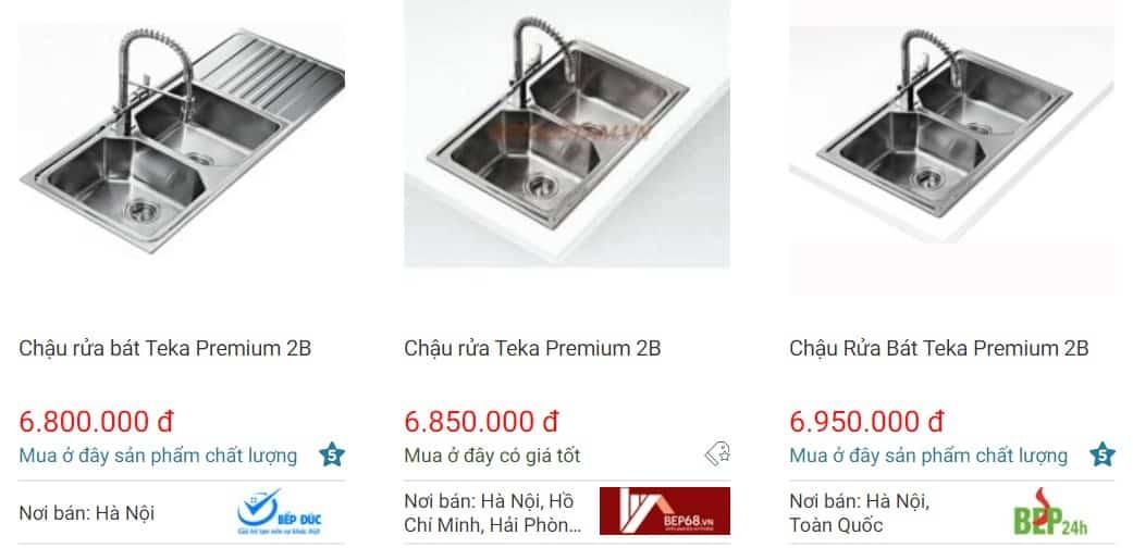 Giá chậu rửa bát Teka PREMIUM 2B tốt nhất