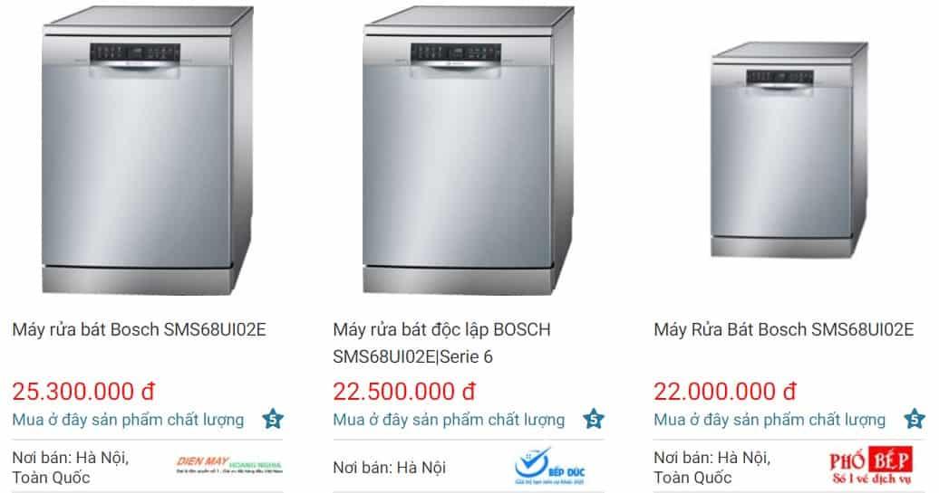Địa chỉ mua máy rửa bát Bosch SMS68UI02E giá tốt nhất