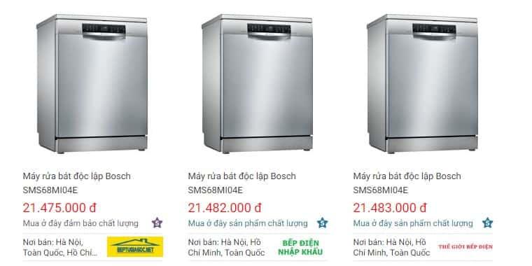 giá bán máy rửa bát Bosch SMS68MI04E