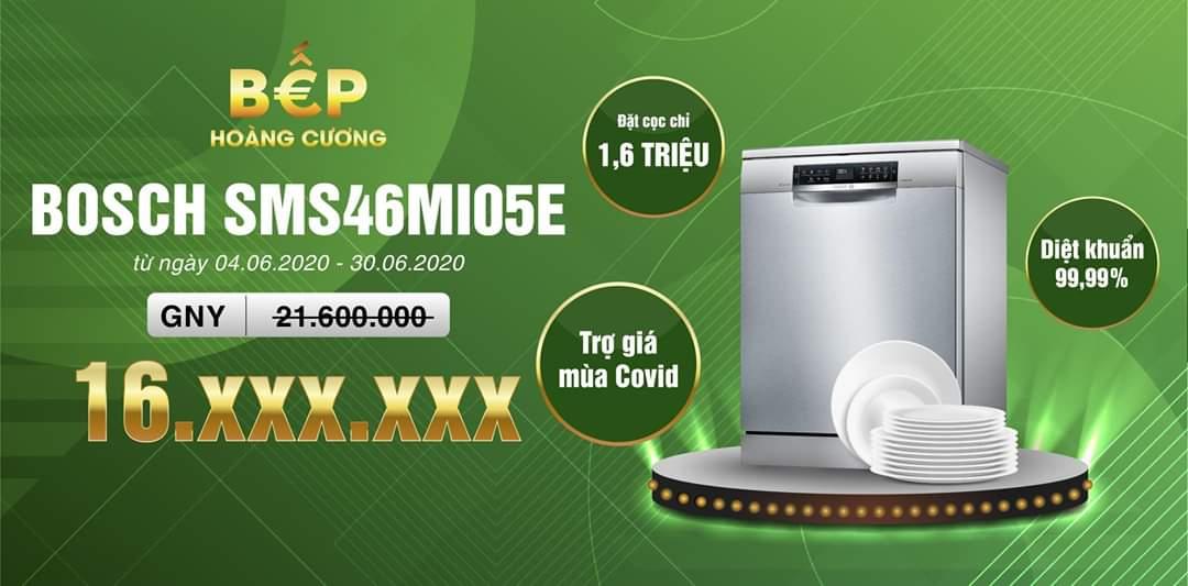 Sở hữu ngay chiếc máy rửa bát BoschSMS46MI05E chỉ với 1,6 triệu đồng