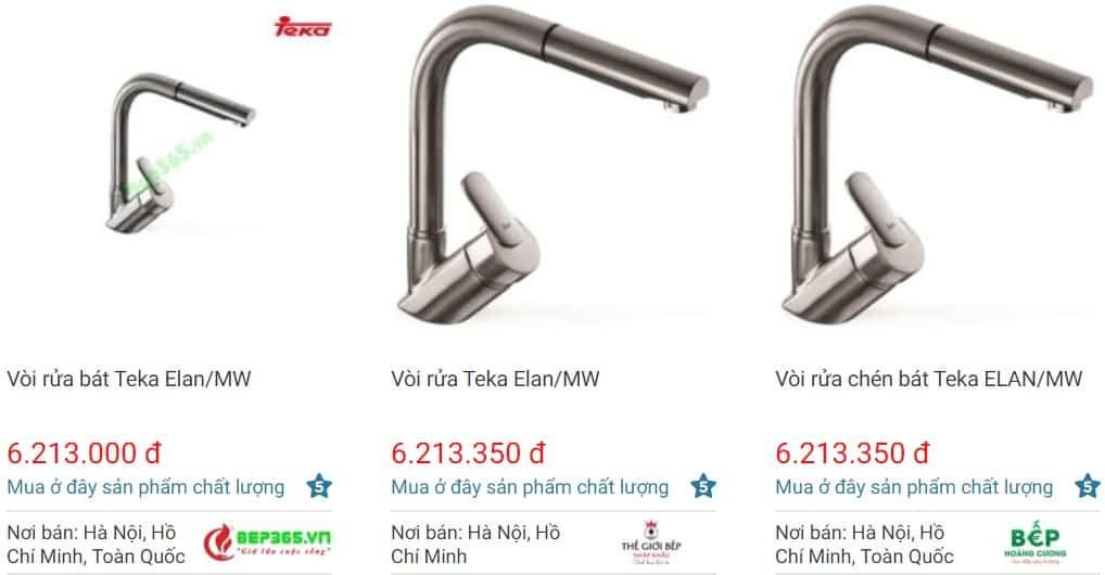 Giá bán vòi rửa bátTEKA MW ELAN trên websosanh