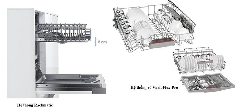 Thiết kế hệ thống giàn rửa máy rửa bát Bosch khoa học và tiện dụng.