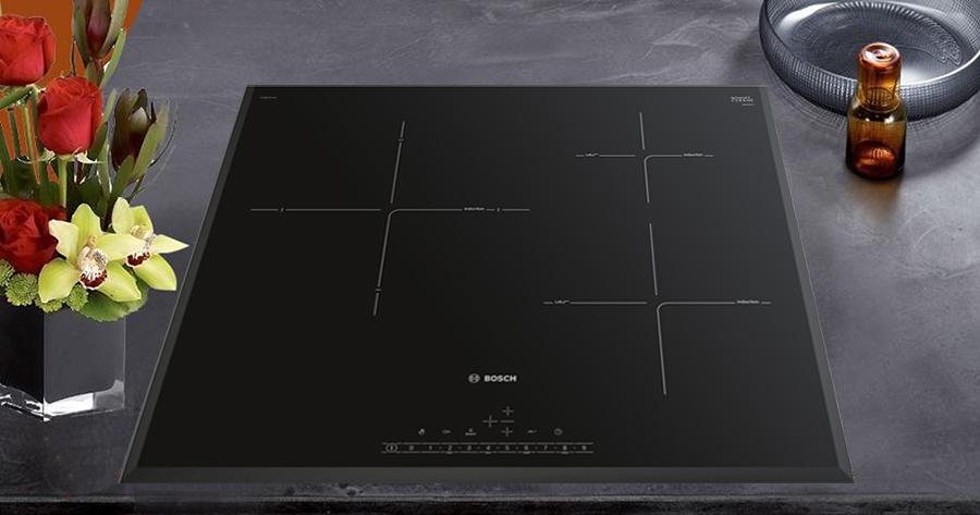 Hình ảnh thực tế bếp từ BOSCH PIJ651FC1E trong gian bếp