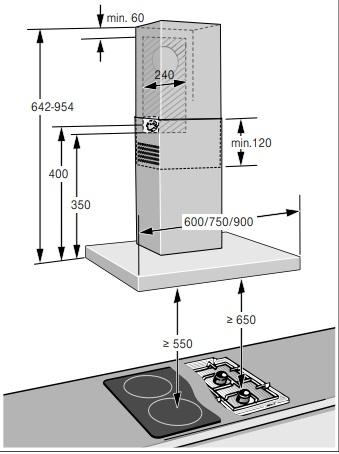 Hướng dãn lắp đặt hút mùi DWB97DM50B