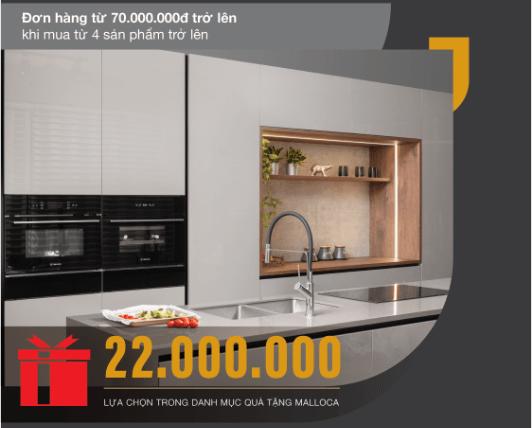 Khuyến mại lớn khi mua thiết bị nhà bếp Malloca -1