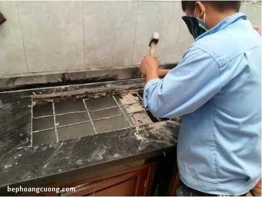 Hình ảnh kỹ thuật thi công lắp đặt bếp từBOSCH PPI82560MS