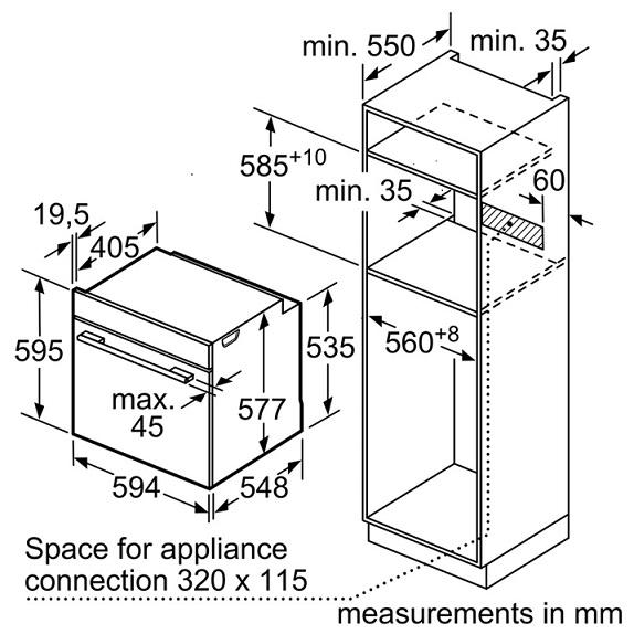 Lò nướng Bosch HBG655BS1M1
