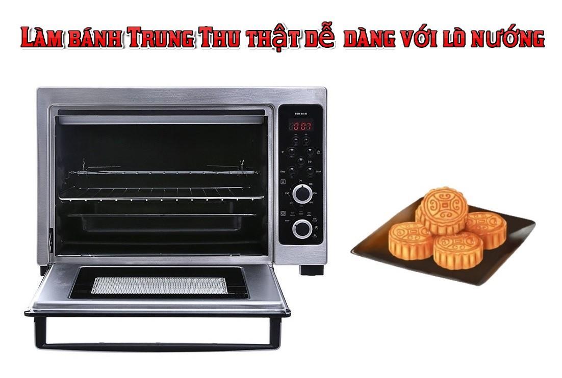 Làm bánh trung thu bằng lò nướng
